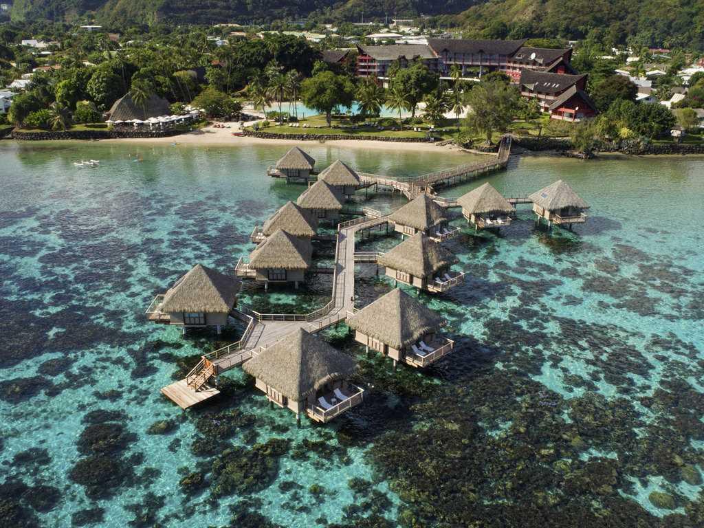 Tahiti Ia Ora Beach Resort managed by Sofitel Luftaufnahme