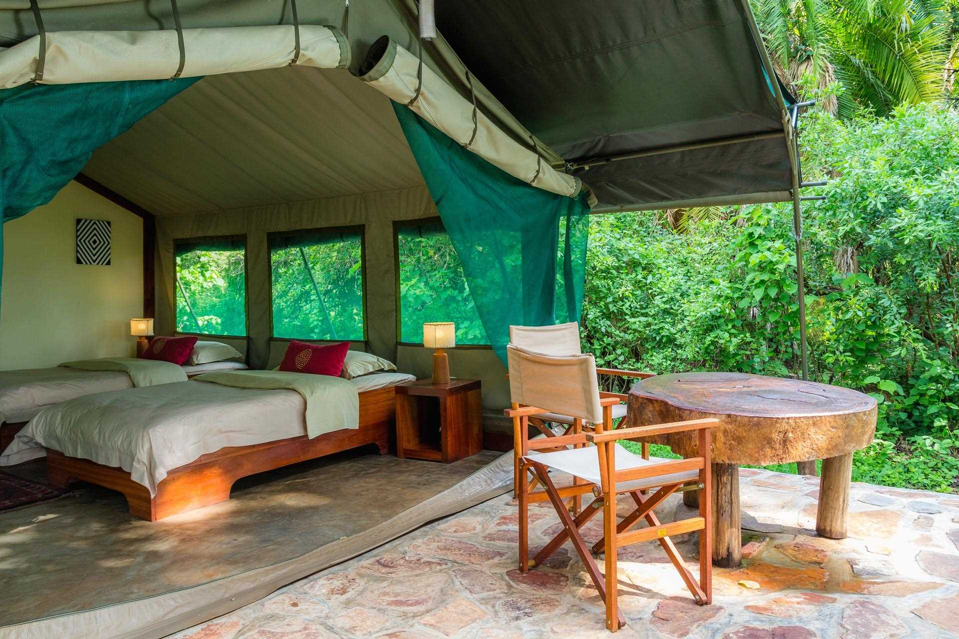 Ruzizi Tented Lodge Doppelzimmer