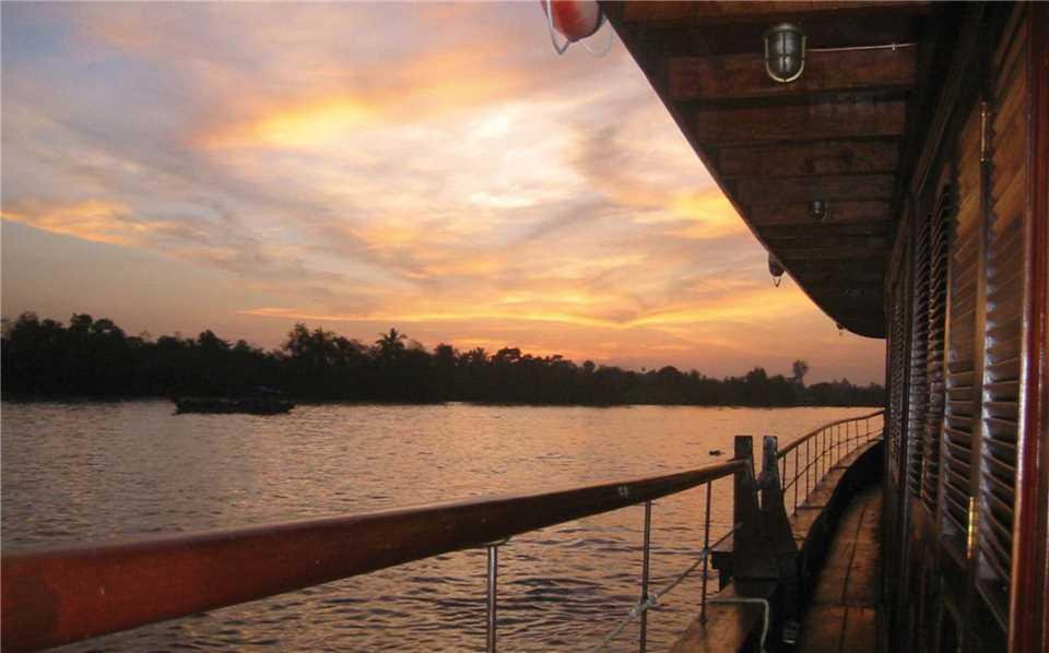 Bassac Cruise Sonnenuntergang