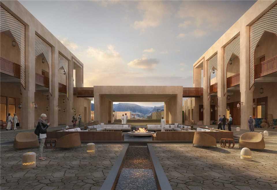 Anantara Al Jabal Al Akhdar Resort Innenhof