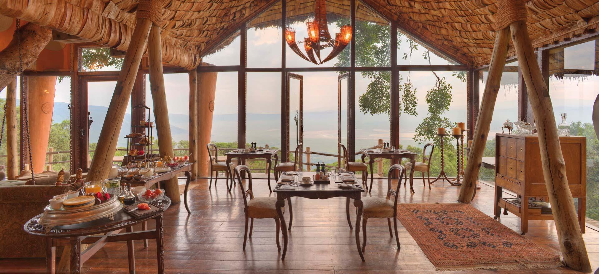 &Beyond Ngorongoro Crater Lodge Speiseraum