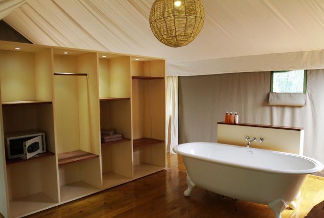 Ruzizi Tented Lodge Badezimmer