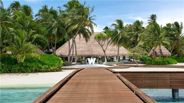 W Maledives Eingang