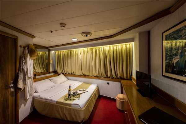 MS Panorama Variety Cruises Kabine Innenansicht