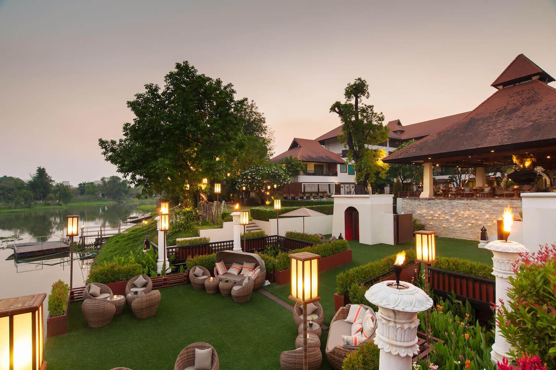 RatiLanna Riverside Spa Resort Chiang Mai Terrasse