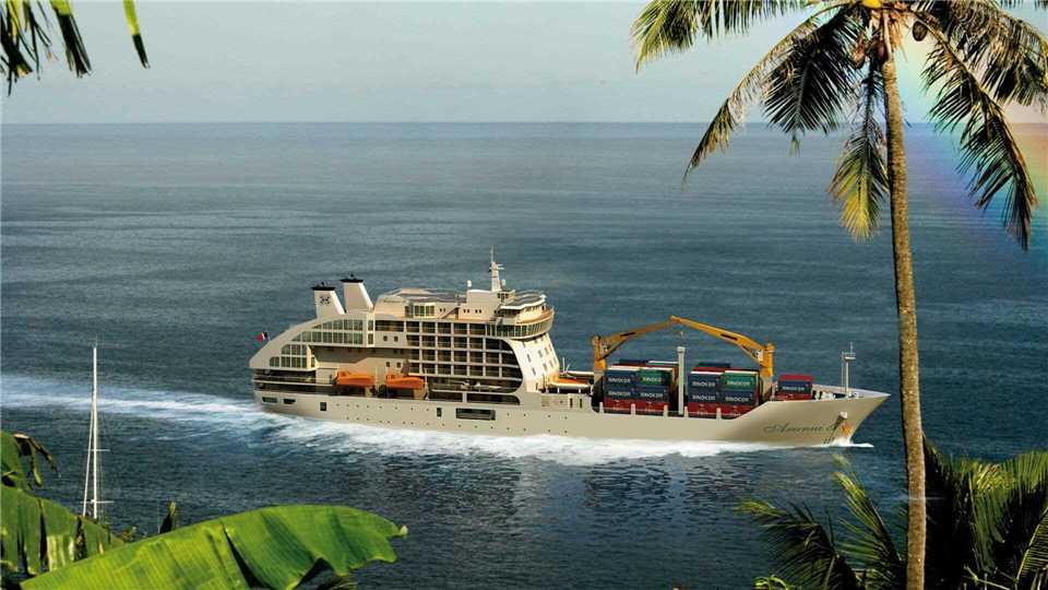 Compagnie Polynesienne de Transport Maritime Aranui 5 Außenansicht