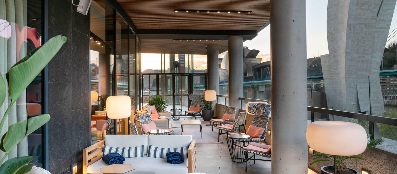 Hotel Vincci Consulado de Bilbao Terrasse