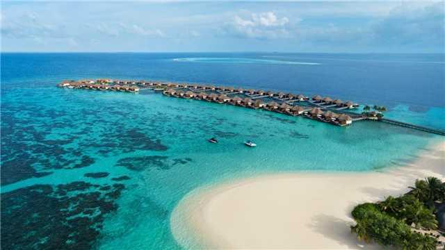 W Maledives Luftaufnahme