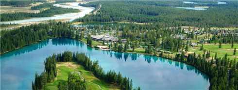 The Fairmont Jasper Park Lodge Luftaufnahme