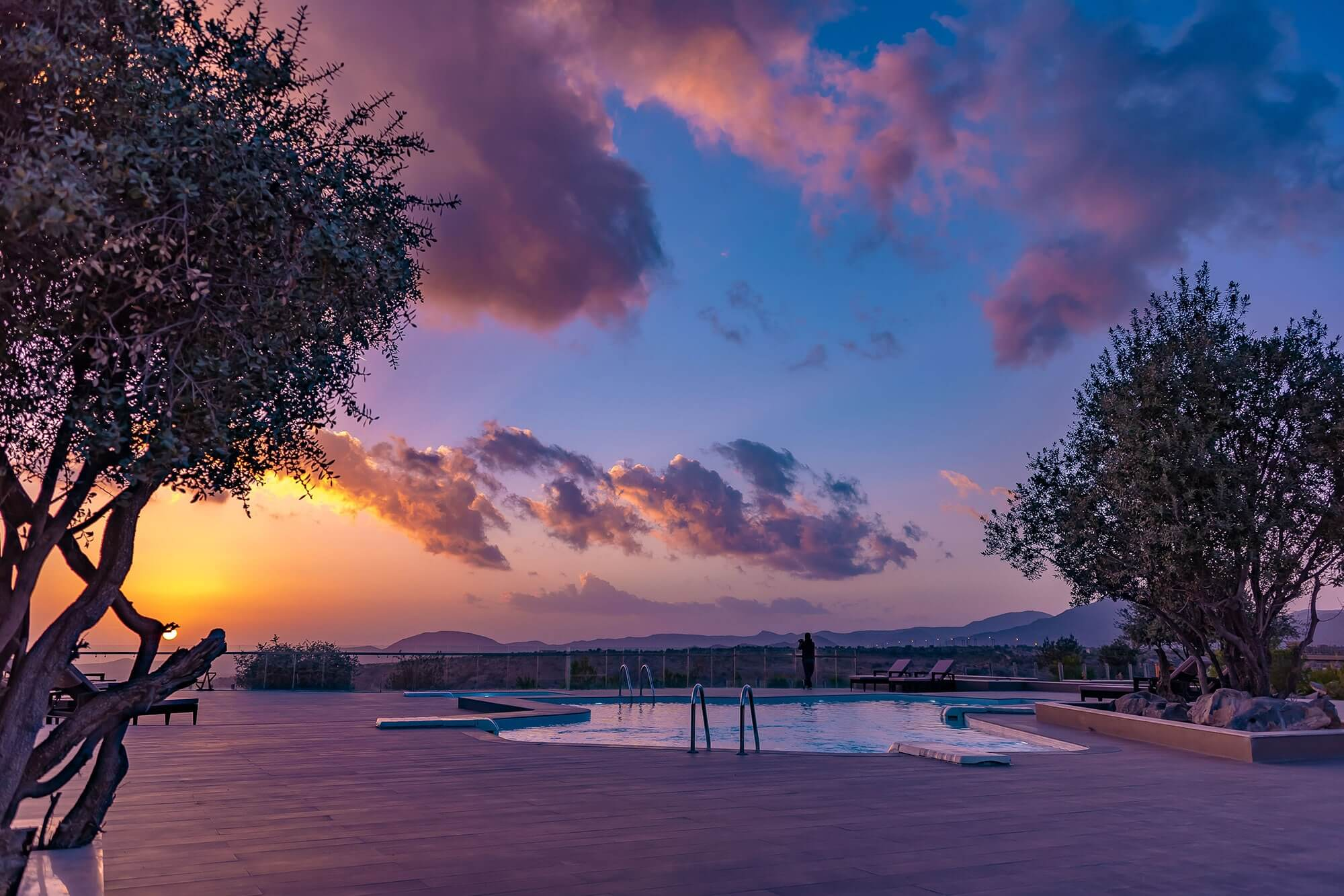 Sahab Resort & Spa Sonnenuntergang