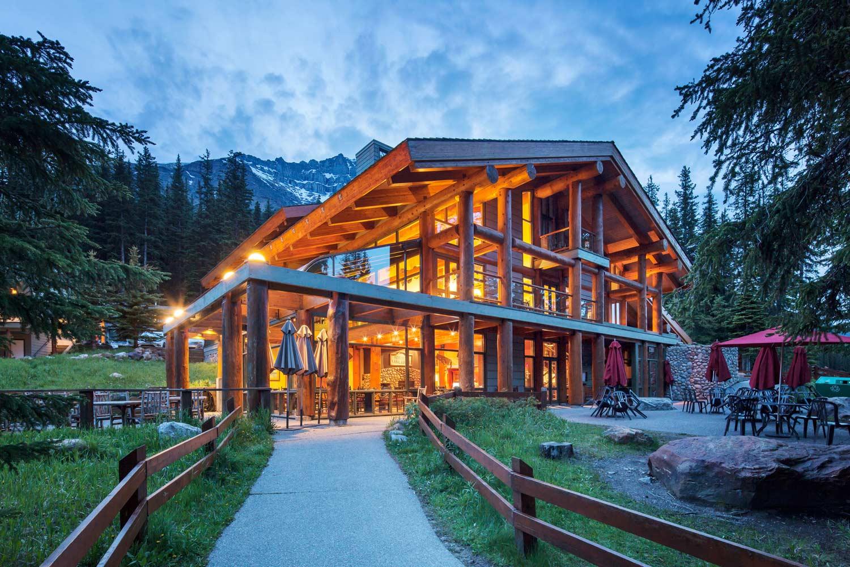 Moraine Lake Lodge Außenansicht
