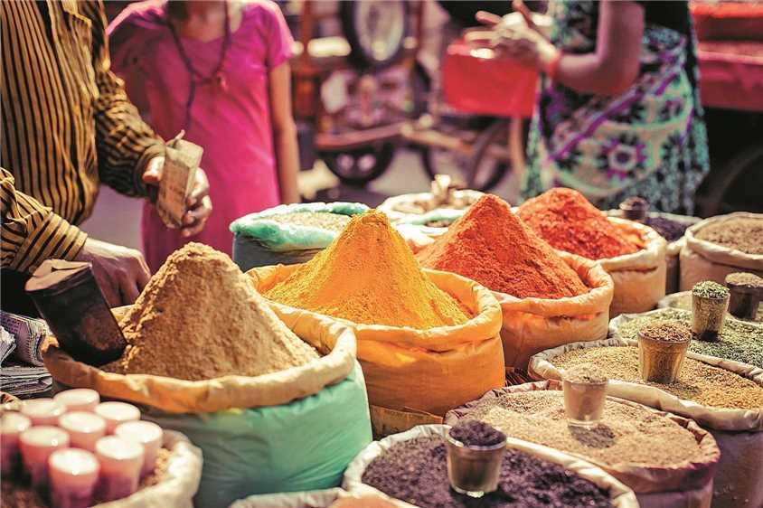 Indien - Gewürze auf dem Markt