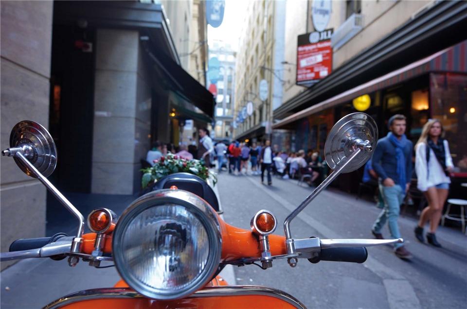 Australien - Motorolla in der Degraves Street Melbourne