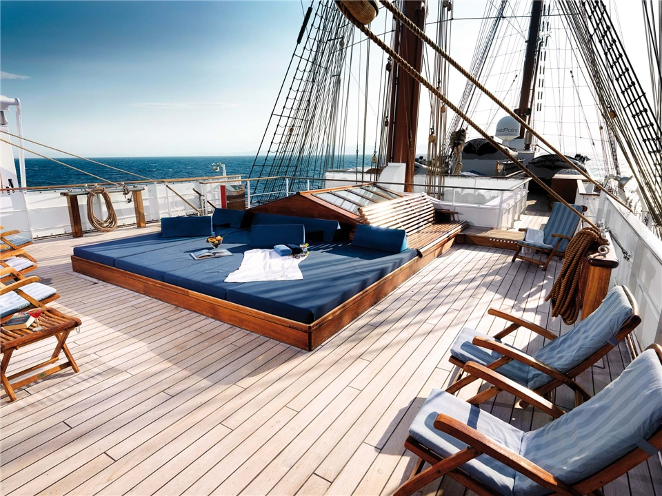 Sea Cloud II Deck Sonnendeck