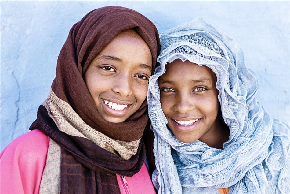 Ägypten Zwei Mädchen