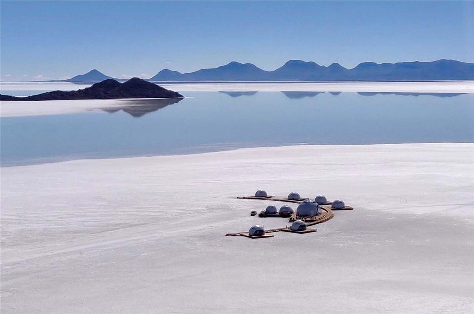 Bolivien Hotel auf dem Salzsee