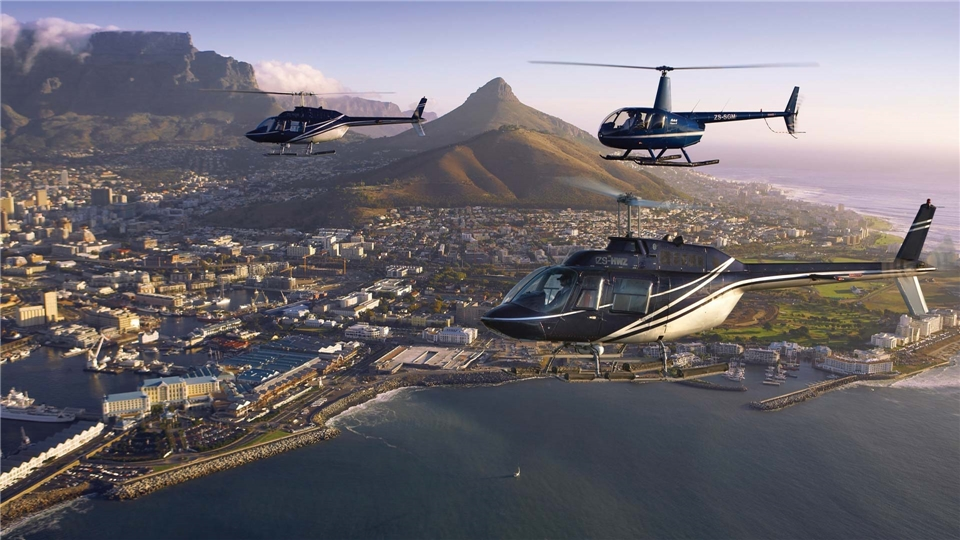 Suedafrika Deluxe Helikopterflug über Kapstadt
