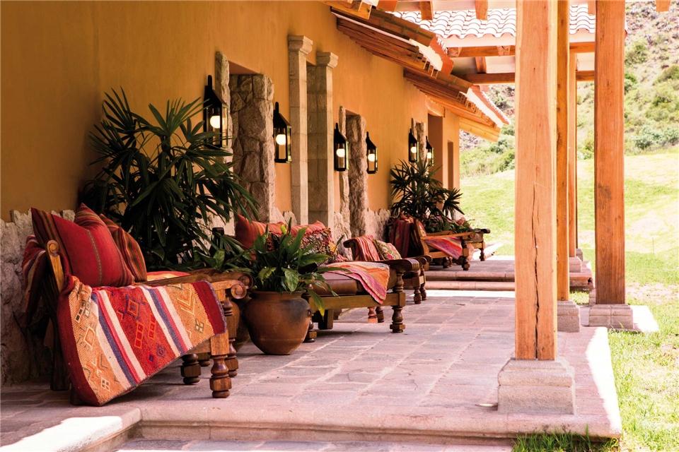 Geheimnisvolles Peru Terrasse mit Sessel