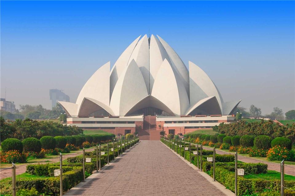 Indien Lotustempel in Neu-Delhi