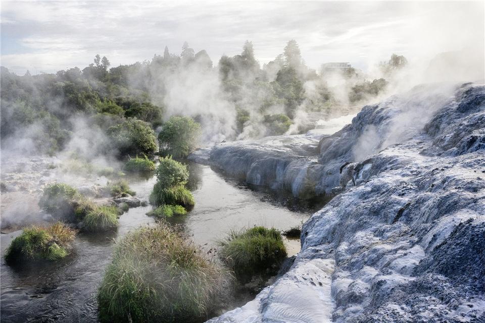 Neuseeland - heiße Quellen bei Rotorua