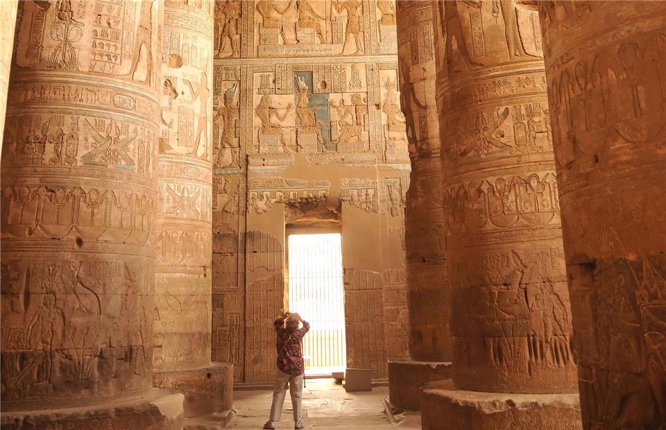 Ägypten - Hieroglyphen im Tempel