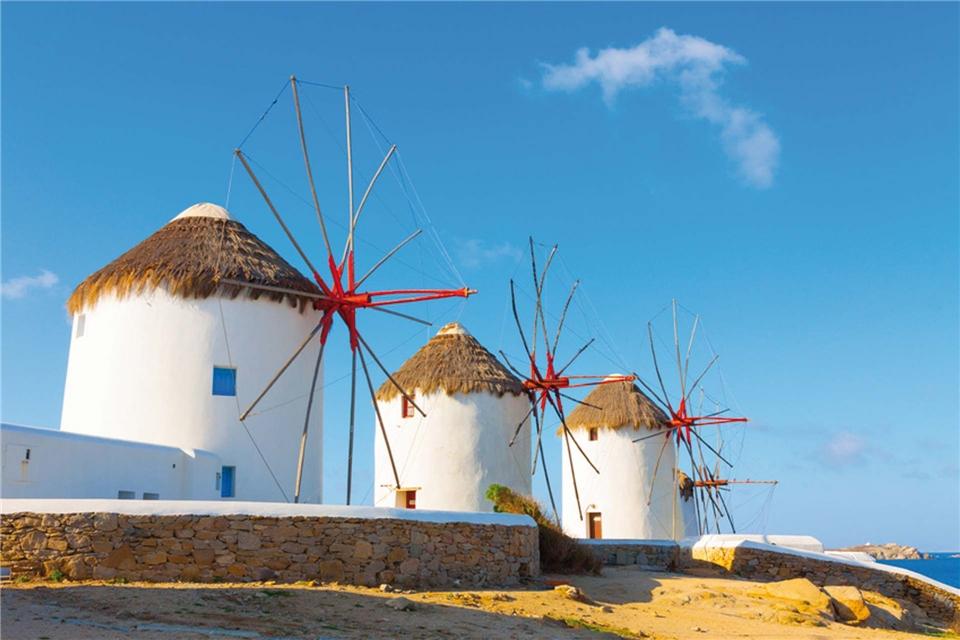 Variety Cruises Galileo Griechenland - Windmühlen Kato Mili in Mykonos Stadt