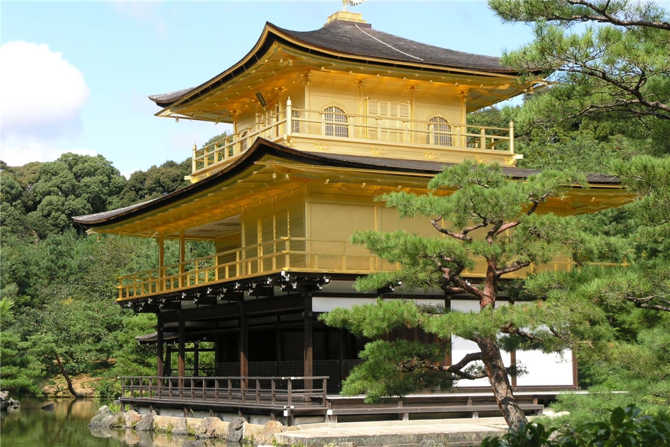Japan - Goldener Kinkaku - Ji Pavillon