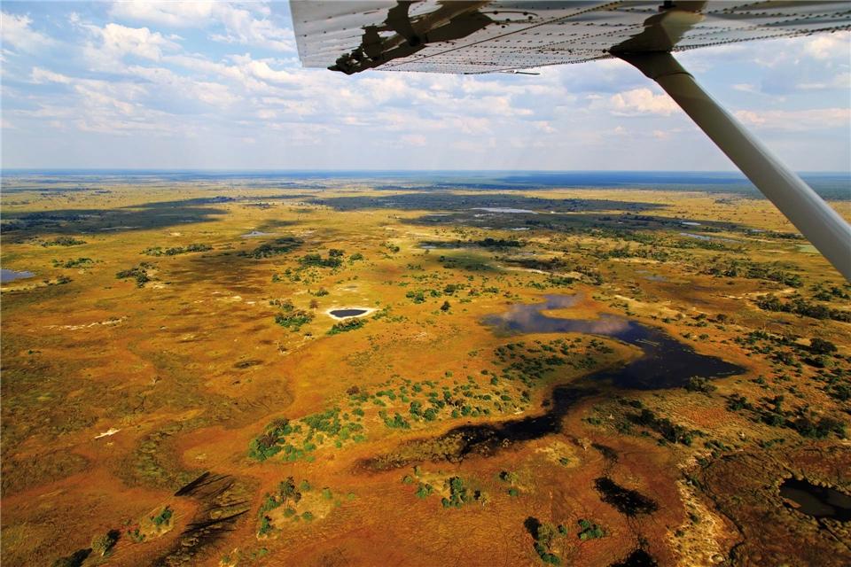Botswana hautnah Okavango Delta aus der Luft