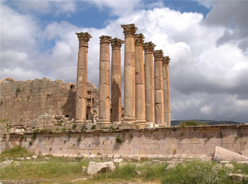 Jordanien - Tempel Säulen