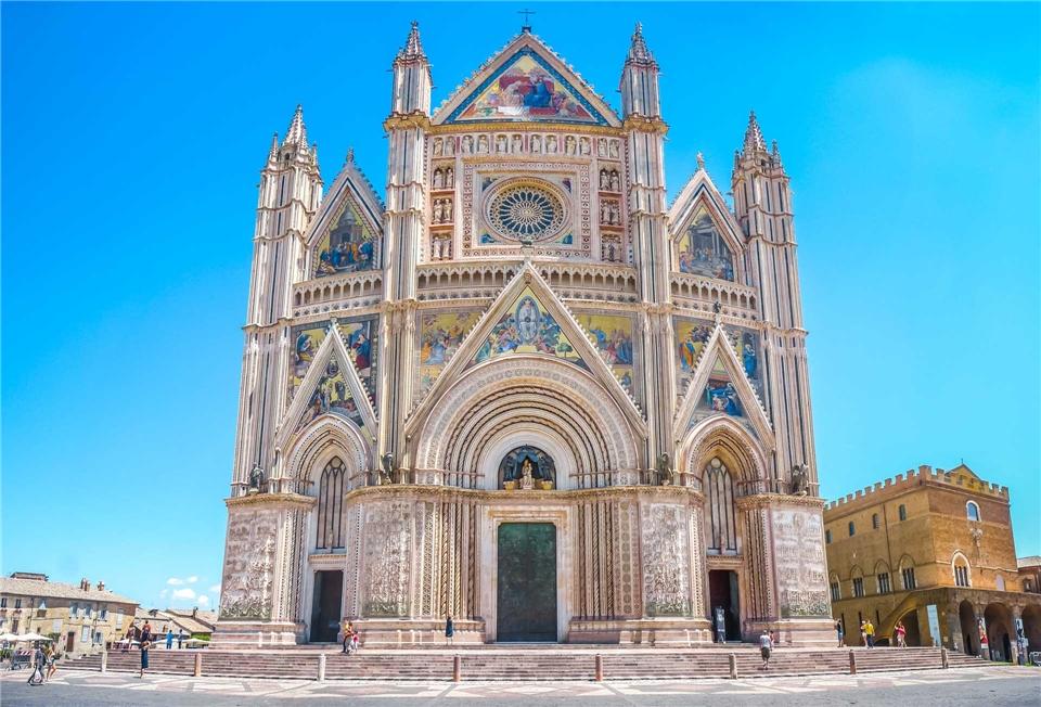 Italien Kathedrale von Orvieto in Umbrien