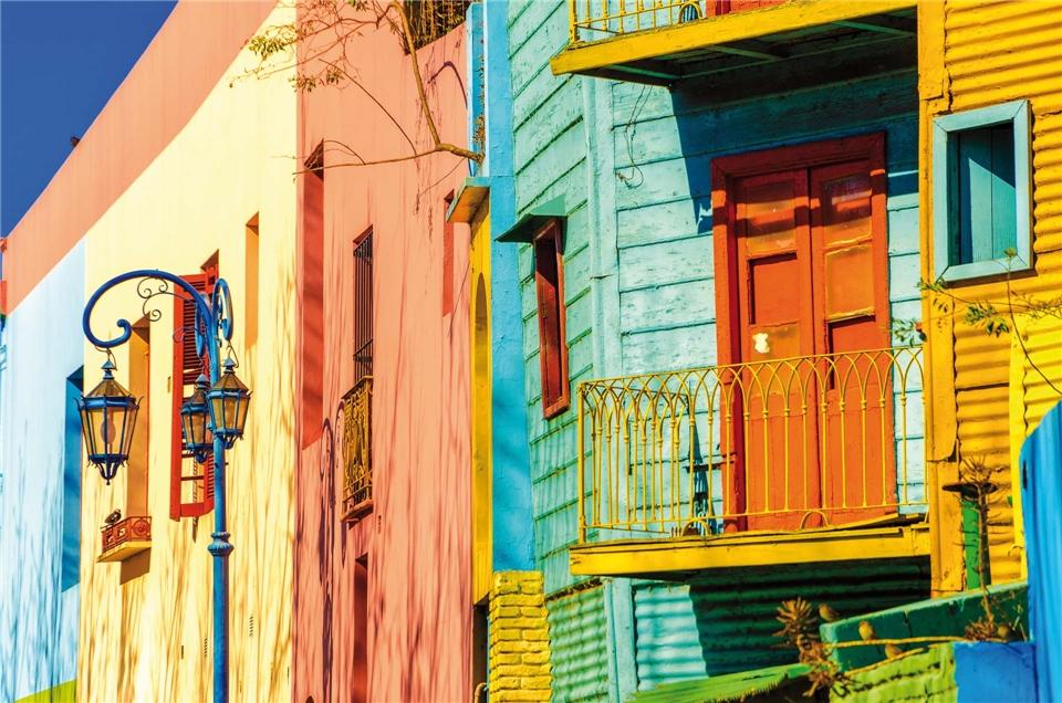 Panorama Südamerika Farben in Buenos Aires