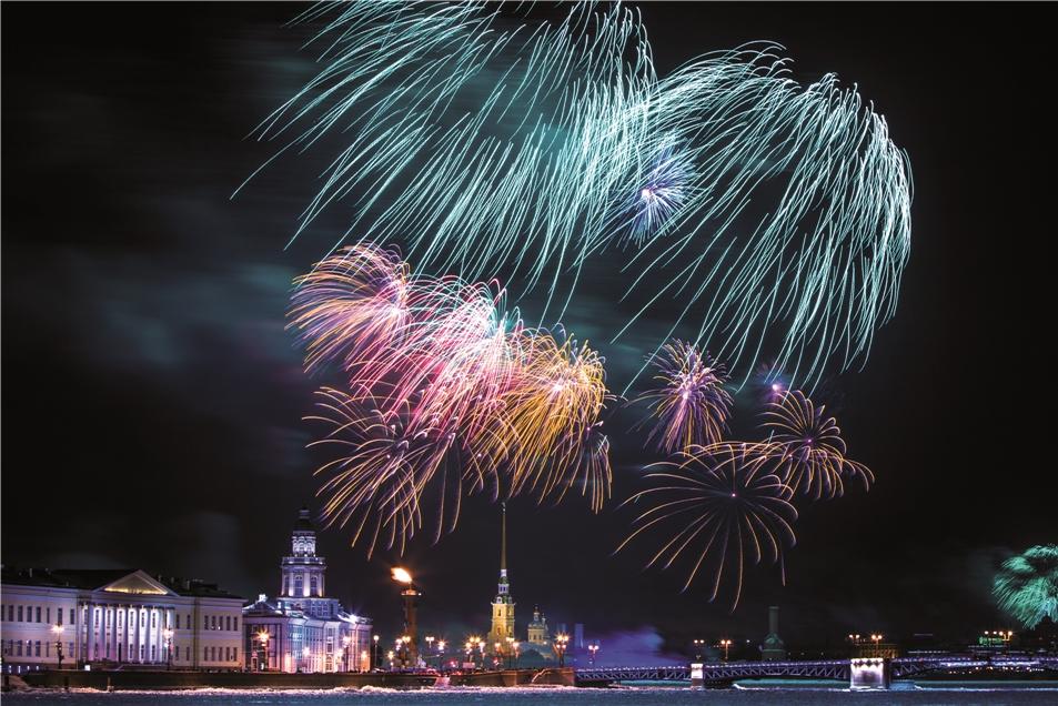 St. Petersburg Feuerwerk