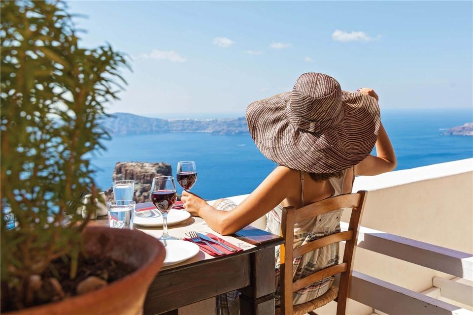 Griechenland Terrasse am Weingut