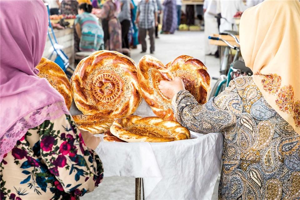 Samarkand in Usbekistan Basar