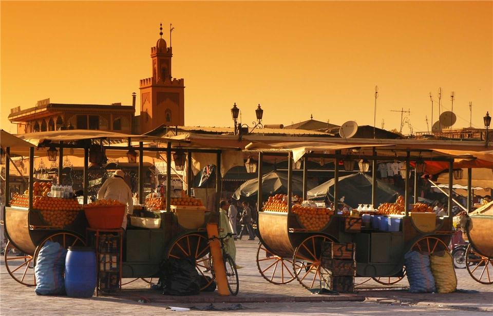 Magisches Marokko Djemaa el Fna in Marrakesch