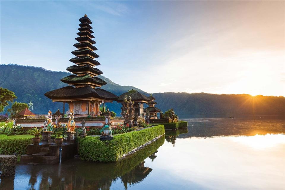 Indonesien Wassertempel Pura Ulun Danu Bratan auf Bali