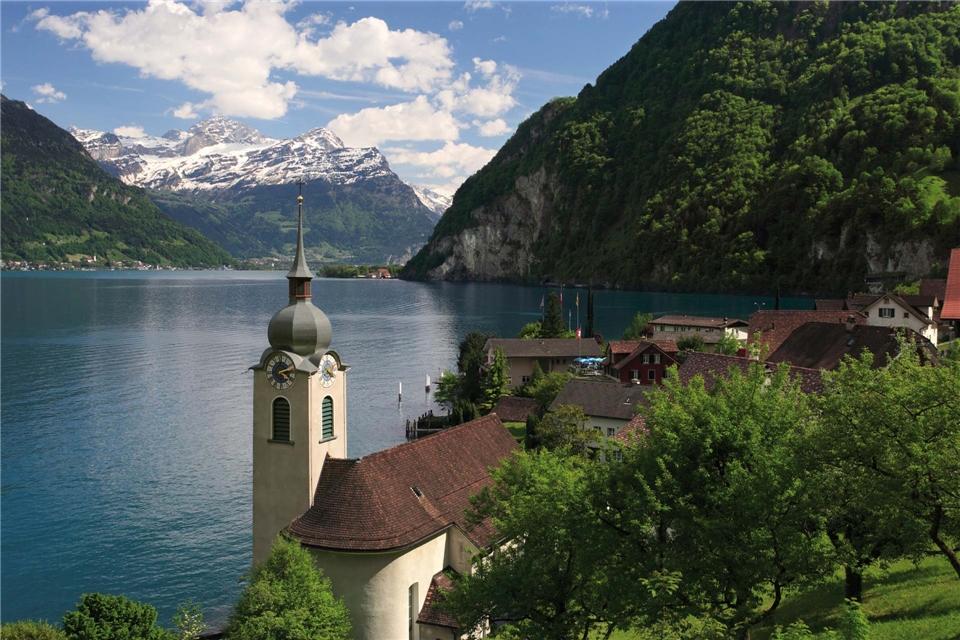 Rail & Cruise - Schweizer Alpen und Venedig Landschaft