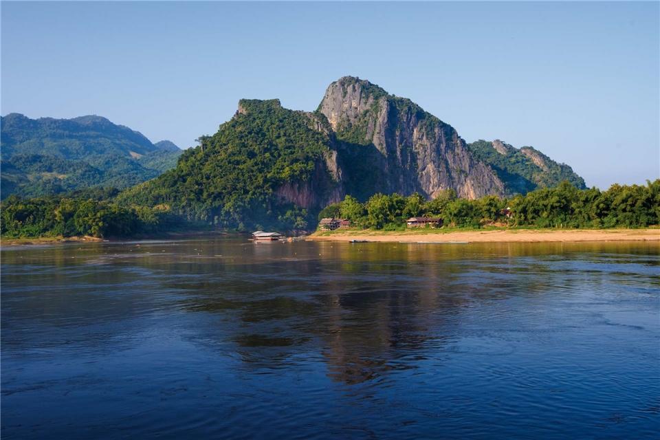 Mekong Berg in Laos