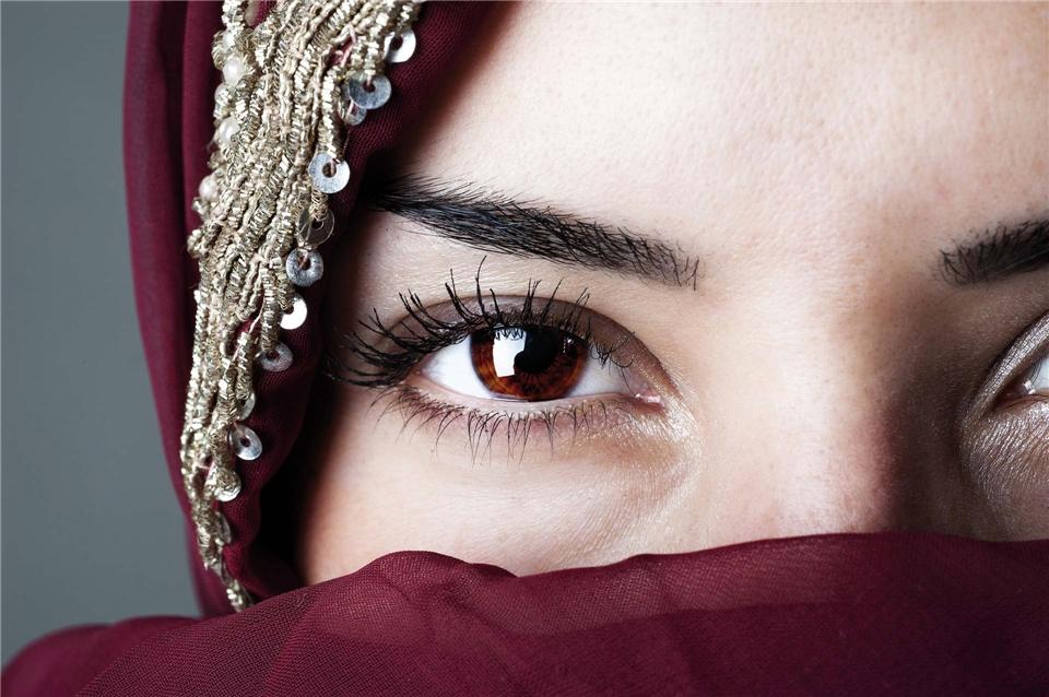 Marokko Portraitbild einer Marokkanerin