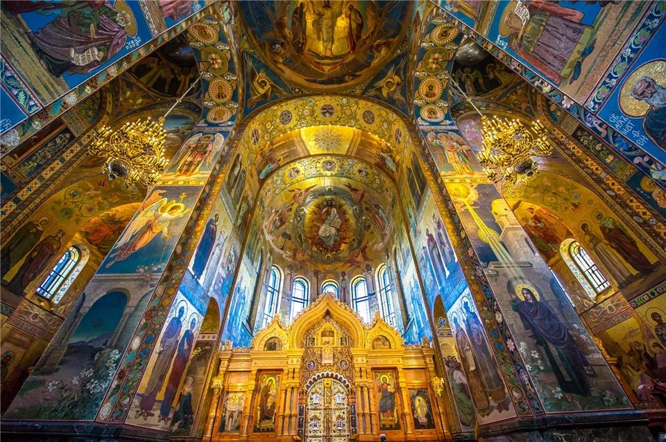 Zarenstadt Sankt Petersburg Erlöser-Kirche von Innen