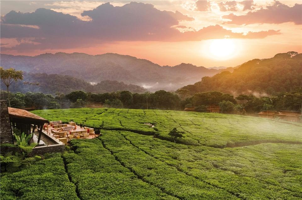 Ruanda Sonnenuntergang