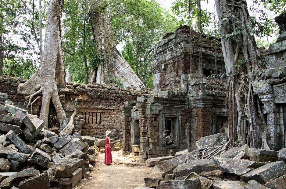 Indochina und Myanmar Ta Prom Tempel