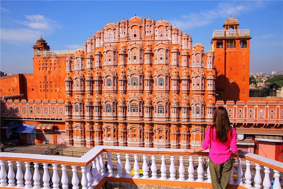 Rajasthan mit allen Sinnen Hawa Mahal in Jaipur