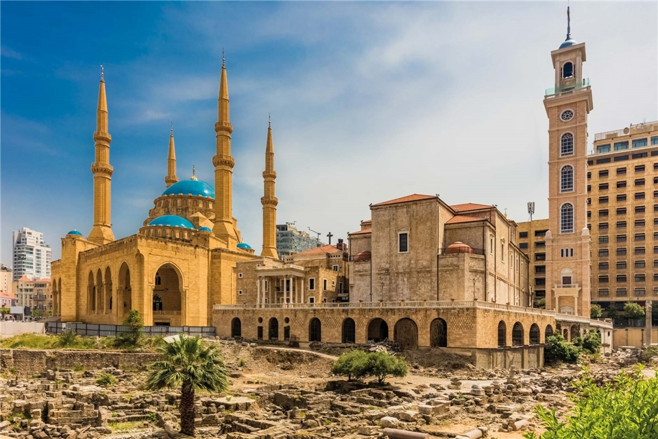 Libanon Mohammed-al-Amin-Moschee in Beirut