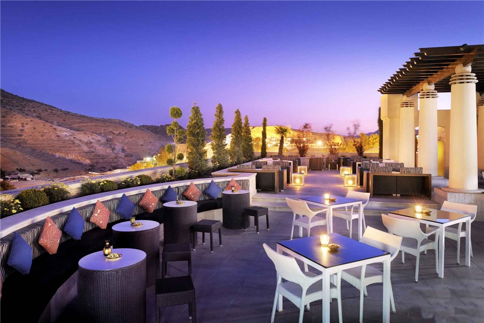 Jordanien Terrasse vom Moevenpick Resort