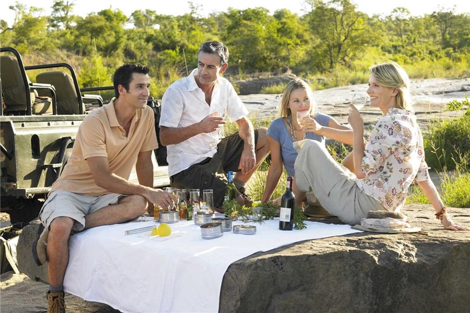 Südafrika 5 Sterne Weinprobe im Game Reserve