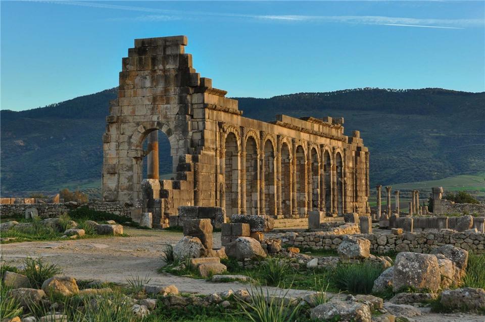 Marokko Römische Ruinen in Volubilis