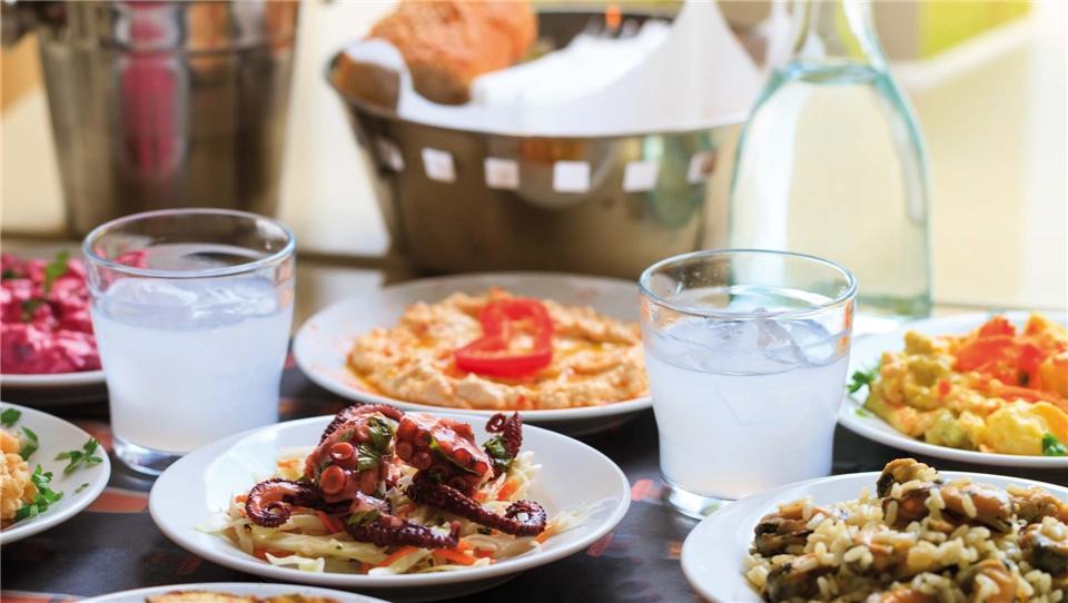 Zypern Meze-Essen