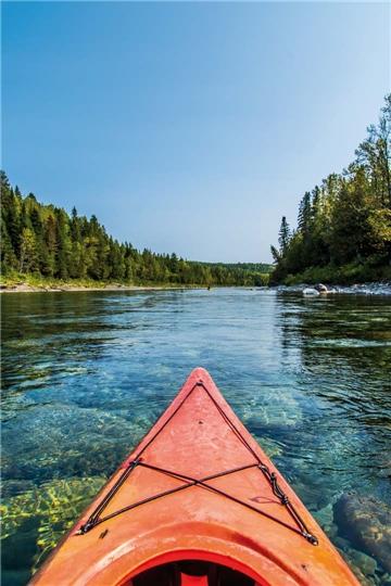 Kanada Kanu-Fahrt auf dem Fluss