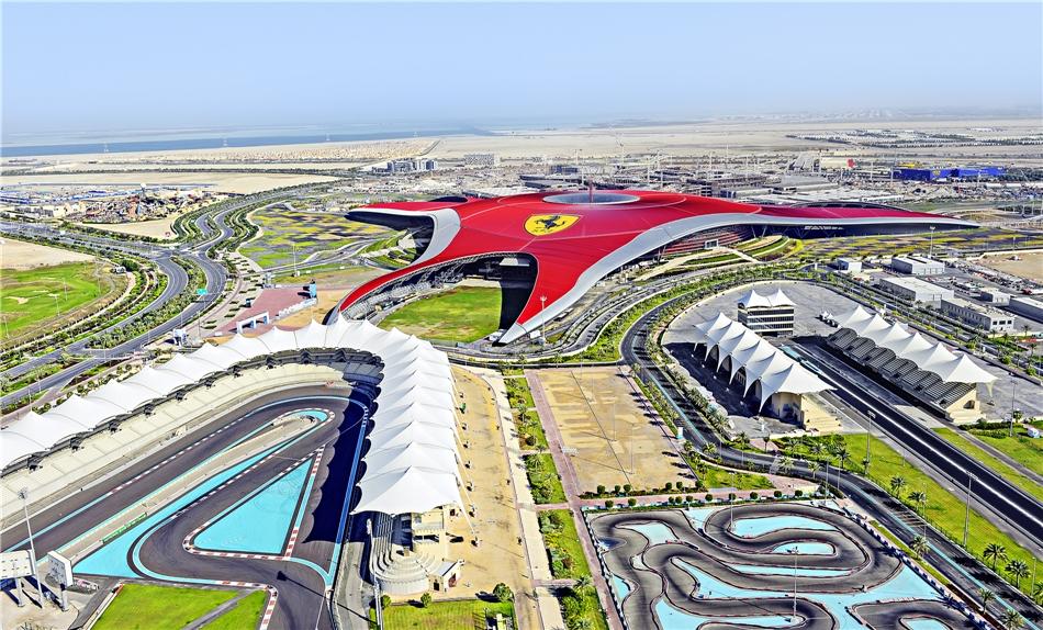 Formal 1 Rennstrecke Abu Dhabi